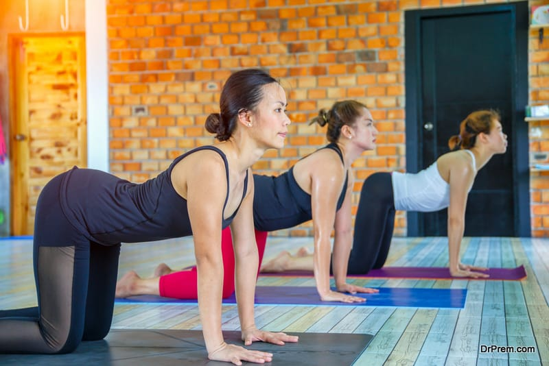 Hot yoga is all about making your body sweat a lot,