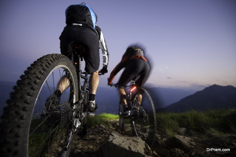 Cycling is a splendid way to combine sports with nature exploration