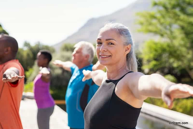 senior generation are active and vibrant