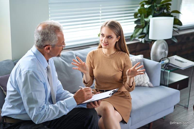woman Seeking professional help