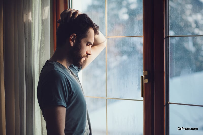 young man suffering from loneliness