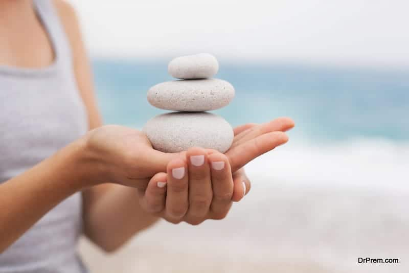 maintaining balance and achieving contentment