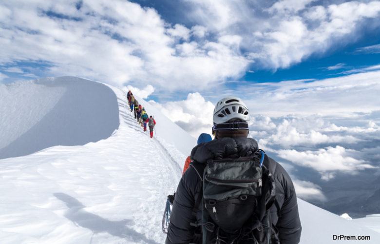 hiking routes in Mont Blanc