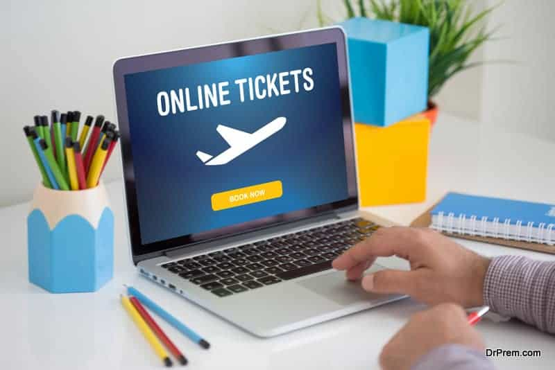 Buying airline tickets on computer