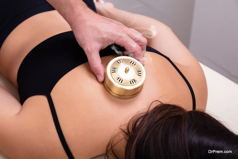 woman undergoing traditional therapy