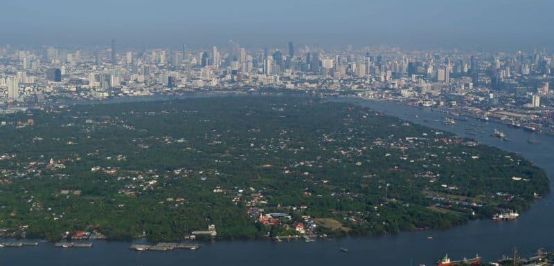 integrative medical wellness facility called RAKxa located amid the green island of the Chao Phraya river