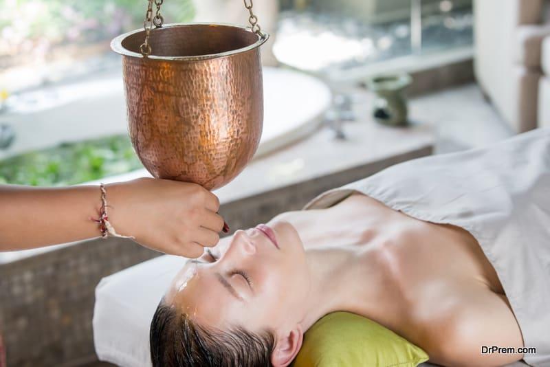 Shirodhara, an Ayurvedic healing technique