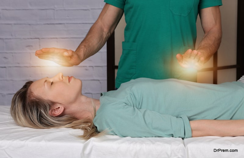 woman undergoing Holistic therapy