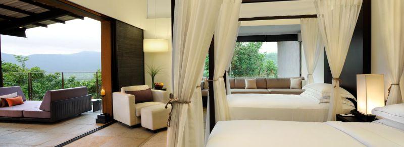 Dharana Shillim Resort's contemporary-designed spacious villas