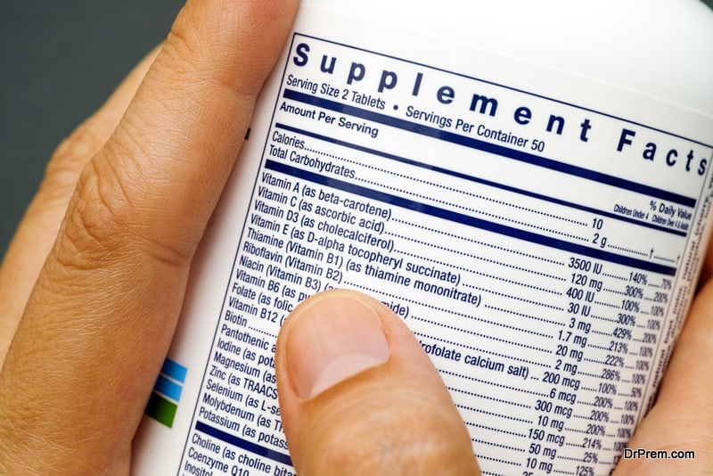 immunity-boosting supplement label