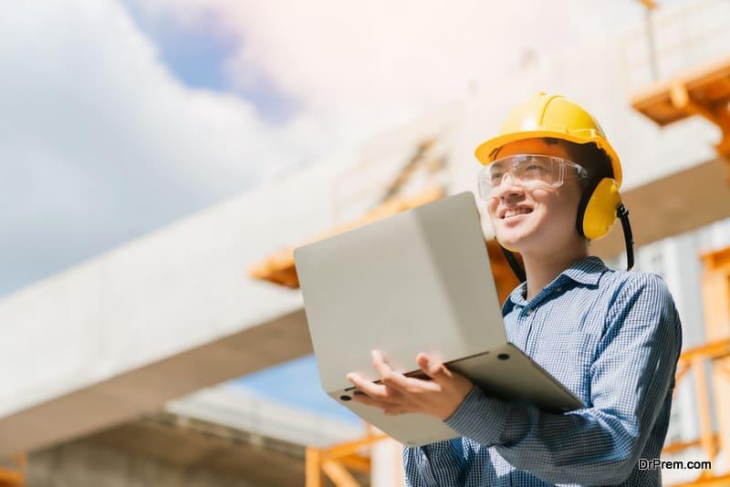 engineer working site