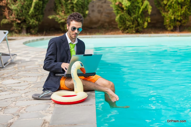 corporate professional at a resort