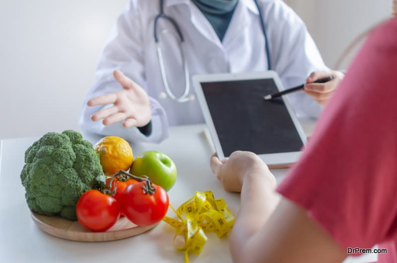 Friendly nutritionist female doctor