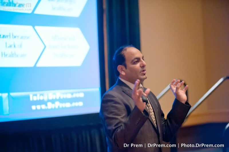 dr prem delivering speech