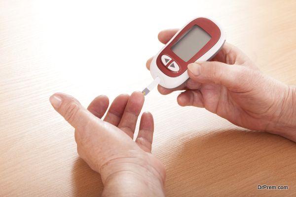 Testing for high blood sugar.