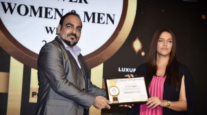 Dr Prem Jagyasi was felicitated with the Times 'Power Men' Award