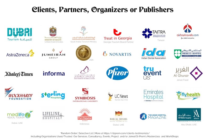 Dr Prem Clients Partners Organizers Logo Showcase LR