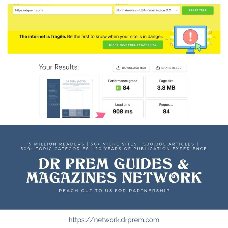 Dr Prem Network Posts loading speed
